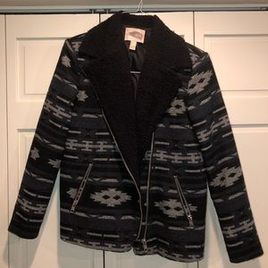 Forever 21 Black + Grey Winter Coat